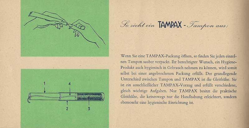 German Tampax booklet Es geht um die besten Jahre Ihres