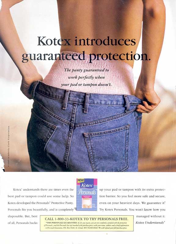 panties in Tampons kotex