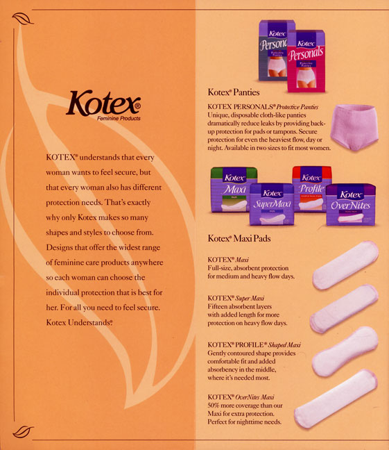kotex pad swot The advice provided in this material is not intended as medical advice if you need medical advice, please consult your health care professional.