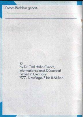 o.b. menarche booklet, 1977: Die Menstruation, at the