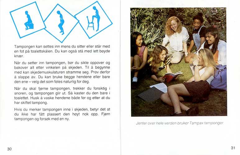 Tampax Booklet Norway 1990 At Mum